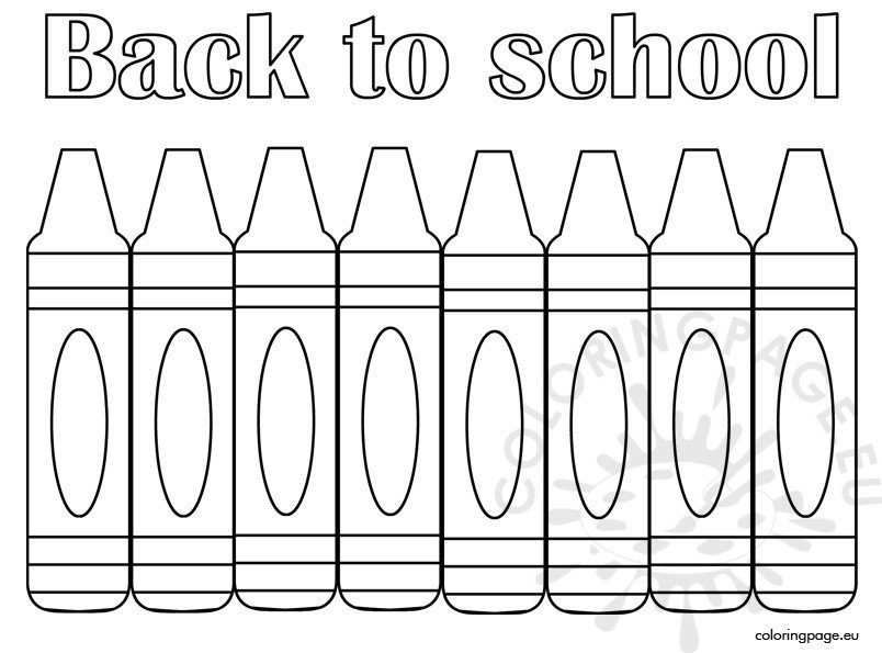 Back to school coloring page free