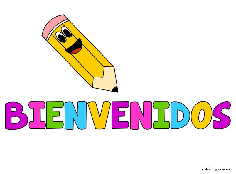 Bienvenidos Coloring Page
