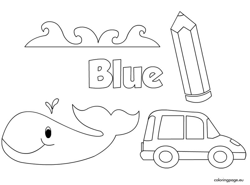 The color blue coloring page for Blue coloring page