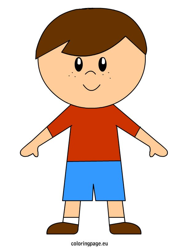 Boy Clipart Free – Coloring Page