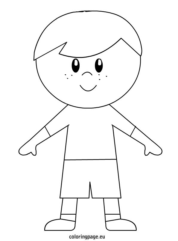 a boy coloring pages - photo #21