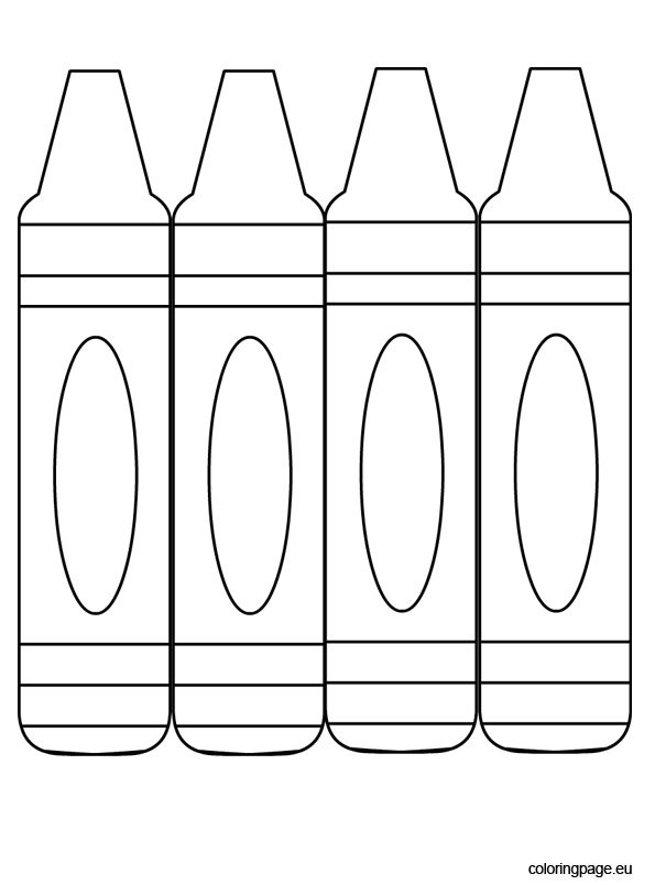 Three crayons to color coloring page Coloring book and crayons