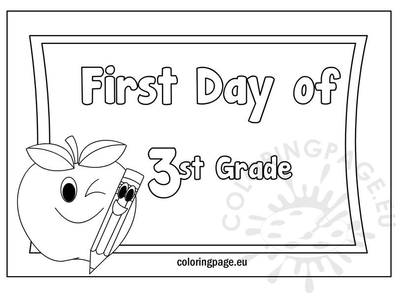 first-day-of-3st-grade-free