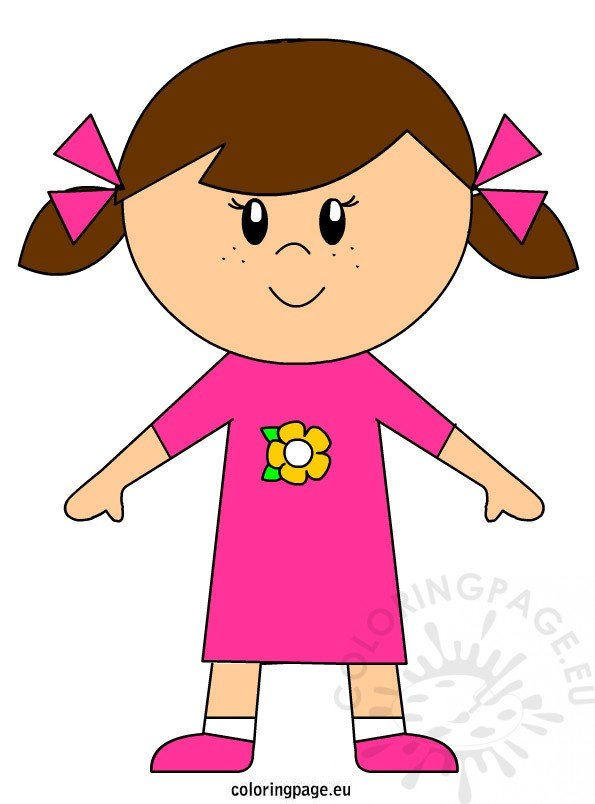 Girl Clipart Free | Coloring Page