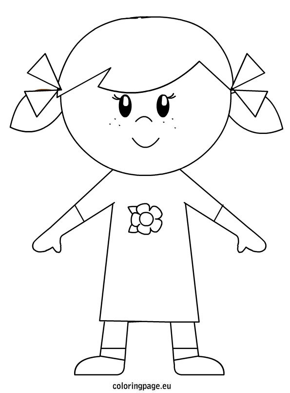 Little Girl - Coloring Page