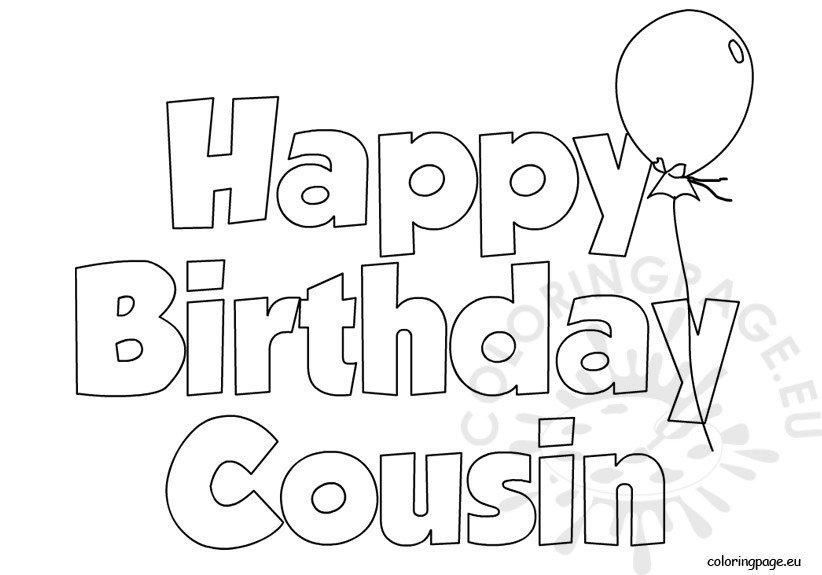 Happy Birthday Cousin Balloon