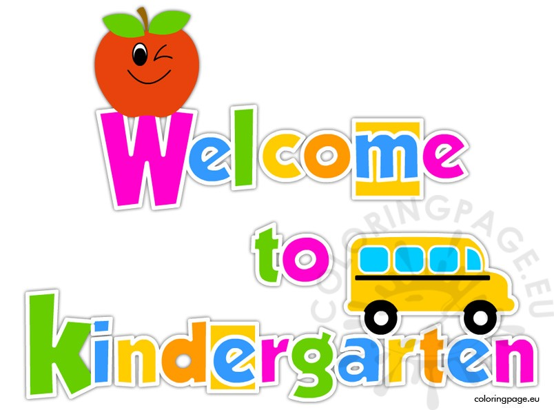 Free printable Welcome to Kindergarten – Coloring Page