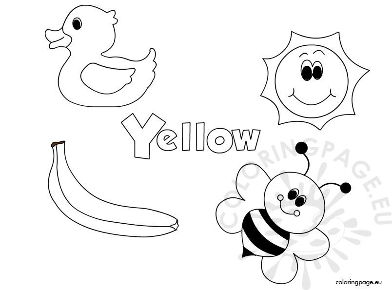 The Color Yellow Coloring Page Colors Coloring Pages