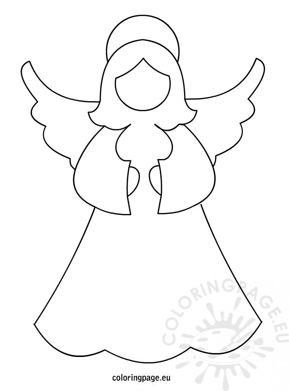 Angel Template Coloring Page