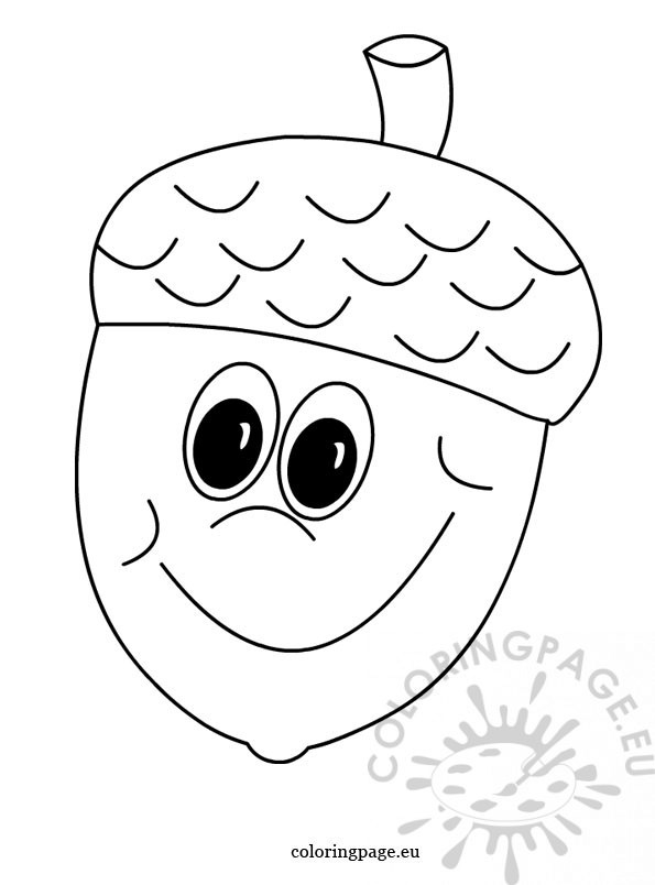 Acorn Picture Colouring Pages Acorn Coloring Pages