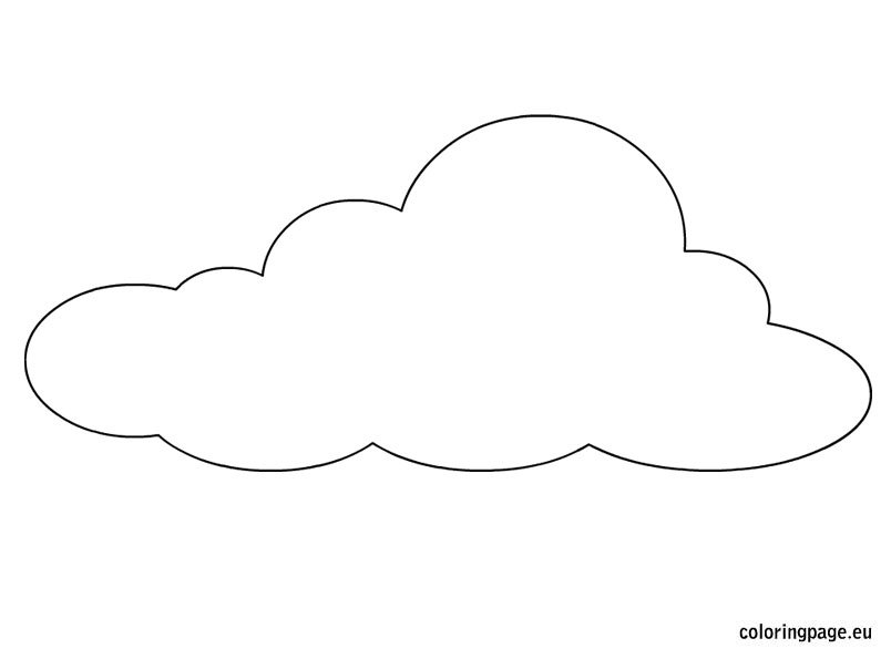 cloud template coloring page. Black Bedroom Furniture Sets. Home Design Ideas