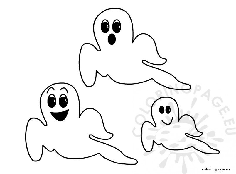 Halloween ghosts Coloring Page