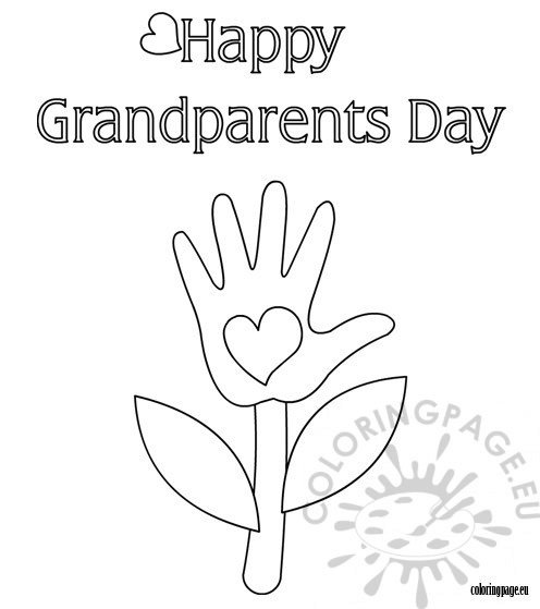 grandparents day coloring page printable