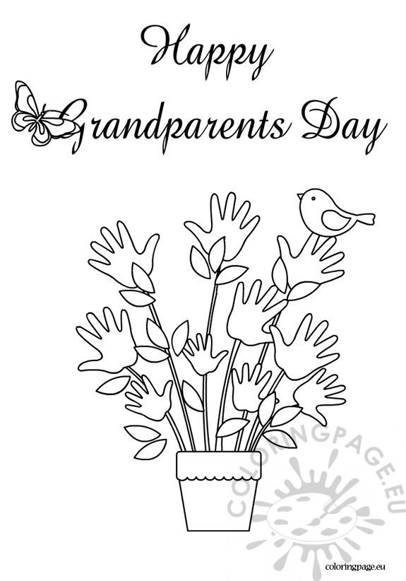 Happy grandparents day coloring sheet - Coloring Page