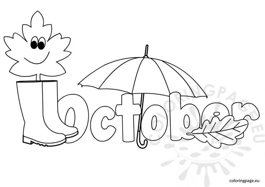 October Coloring Page Coloring Pages For October