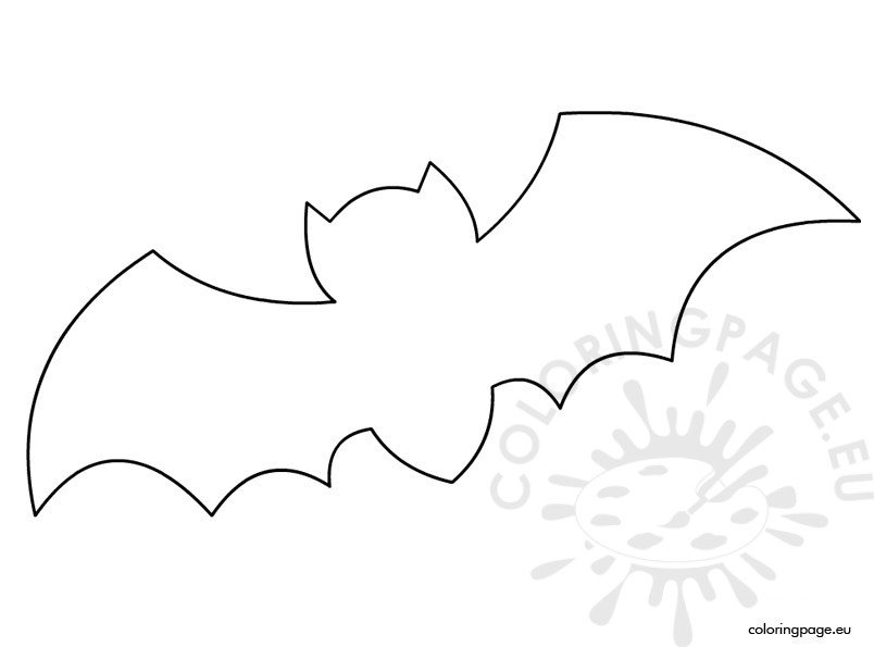 Printable bat template coloring page for Printable bat coloring pages