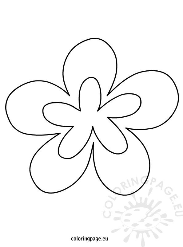 printable flower shapes  u2013 coloring page