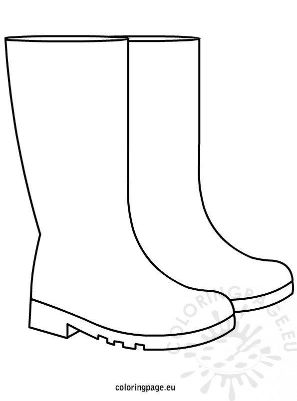 Autumn Rain Boots Coloring Page