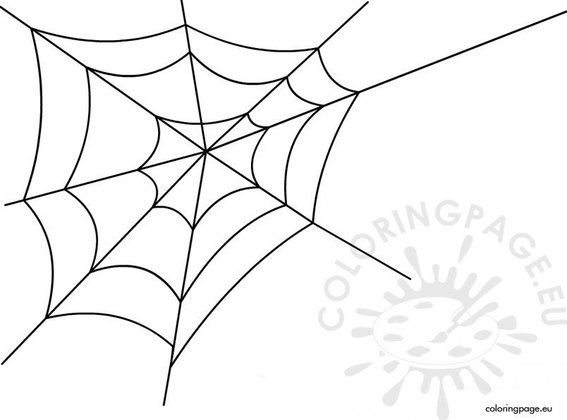 Spider Web Coloring Page