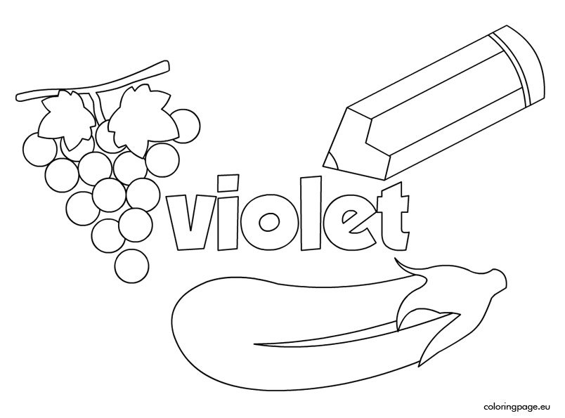 The Color Violet Coloring Page