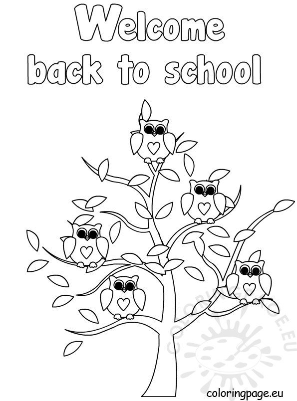 Welcome back to school - Coloring Page