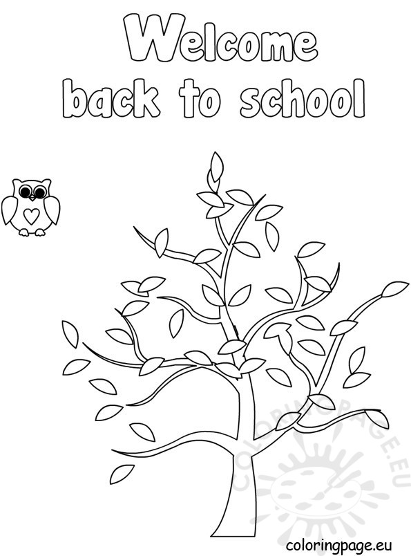 welcome back coloring pages welcome back to school template coloring page