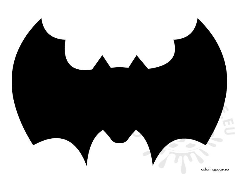 Bat Template To Cut Out  Coloring Page