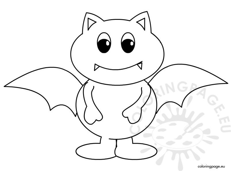 Halloween bat coloring page for Bats coloring pages