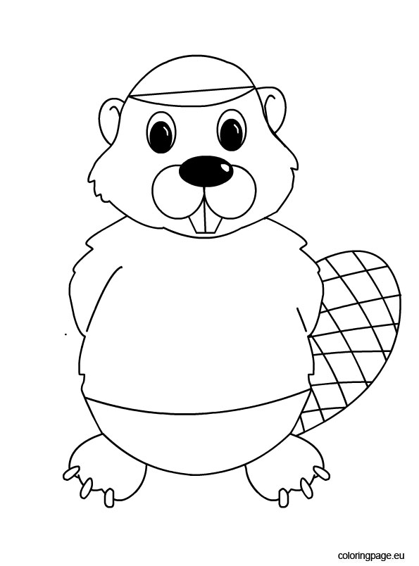 Beaver Coloring Page Coloring Page