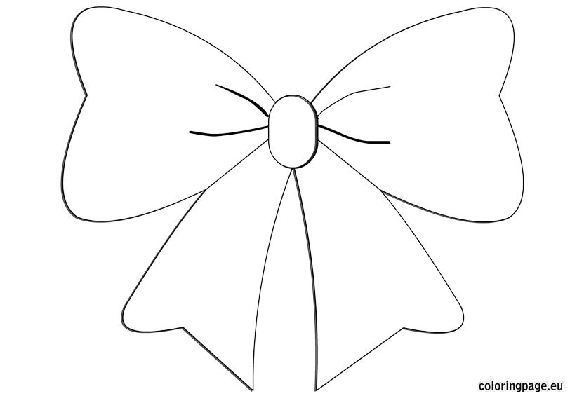 christmas bow coloring pages - photo #14