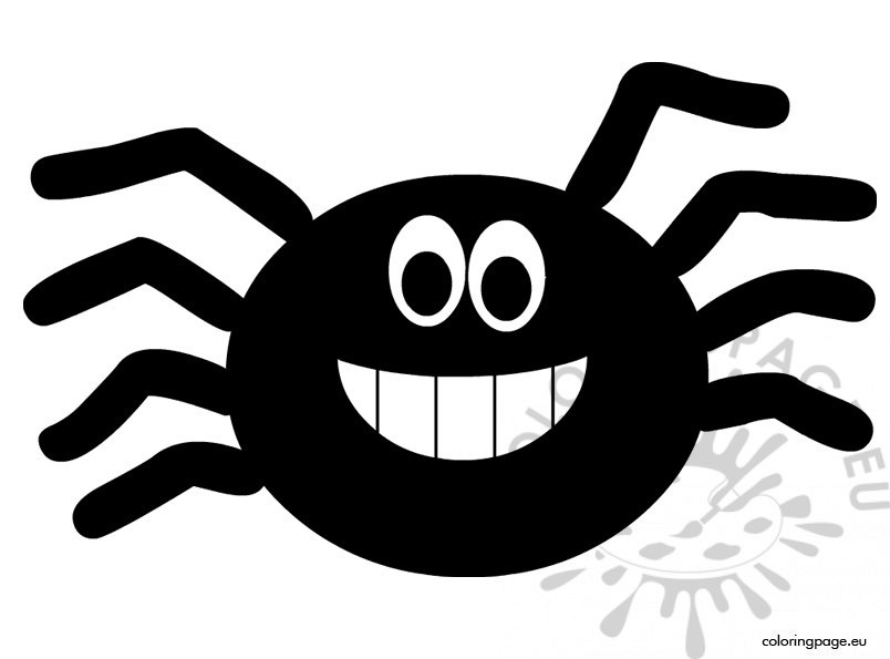 Cute Halloween Spider Coloring Page