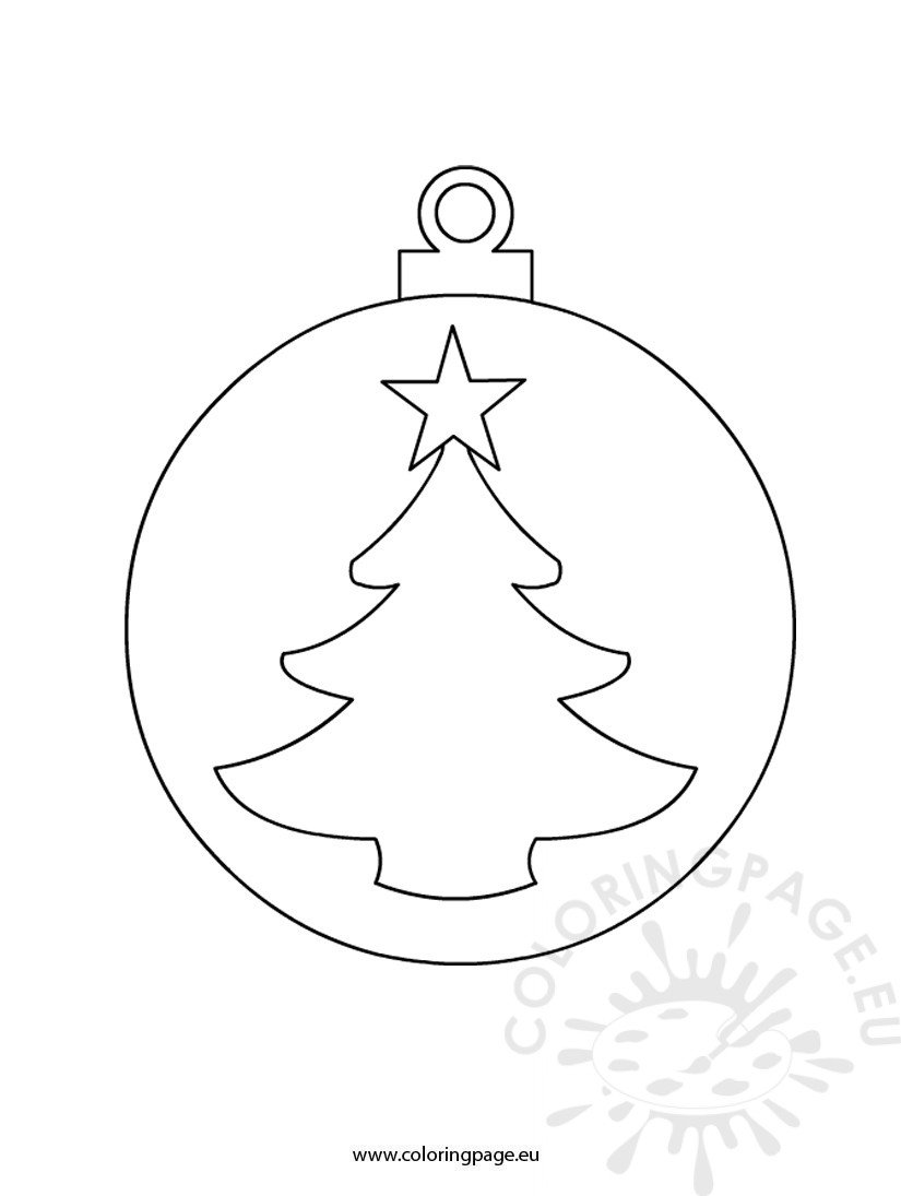 Christmas Ball Cutout Sheet Coloring Beach