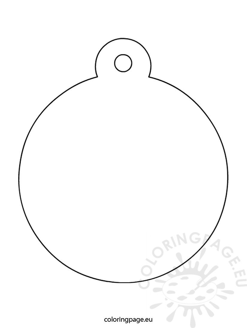 Christmas bauble shaped coloring page for Christmas baubles templates to colour