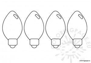 Christmas light 3 for Printable christmas light bulb coloring page