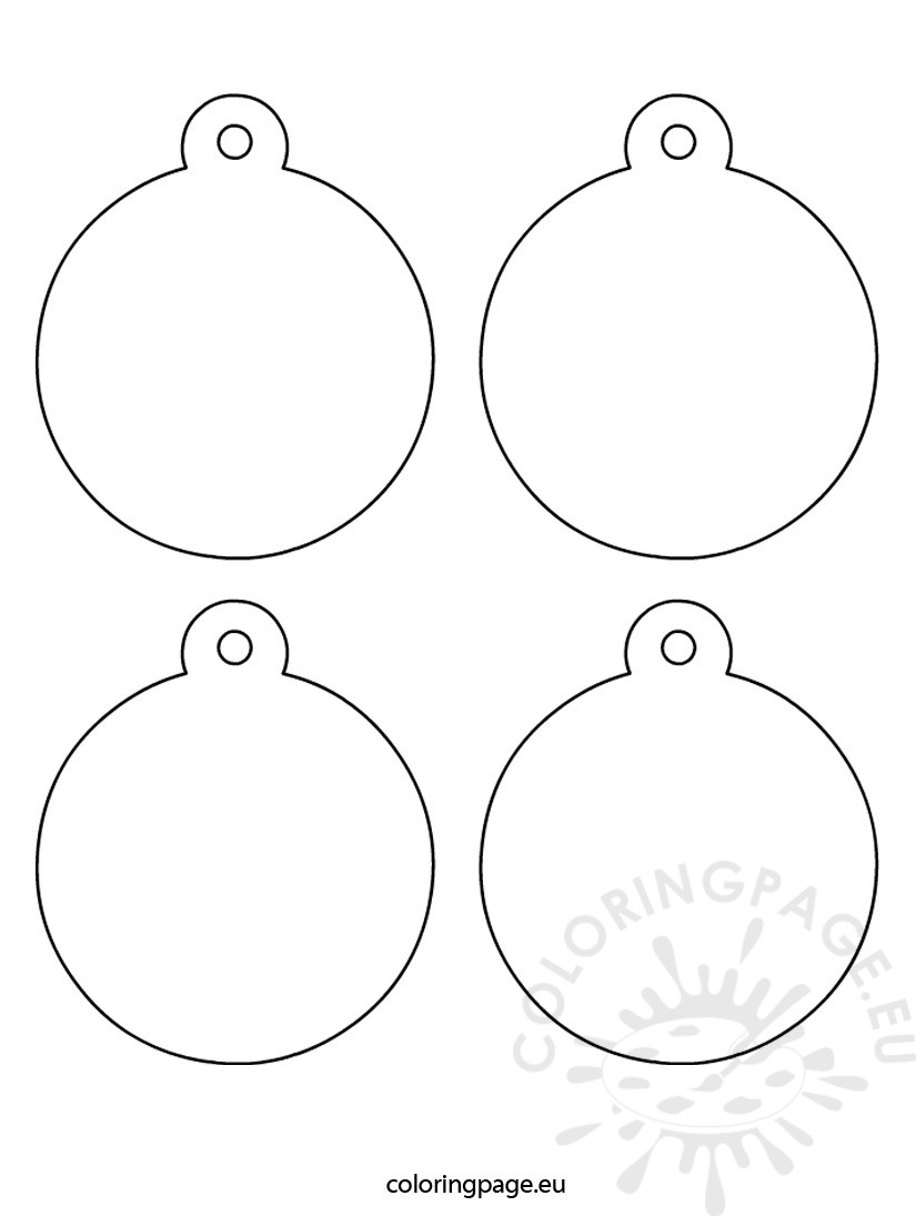 Christmas Tree Ornaments Coloring Page Tree Ornament Coloring Pages