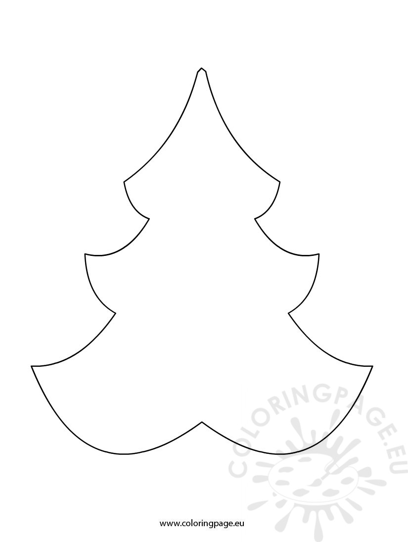 Christmas Tree shape Coloring