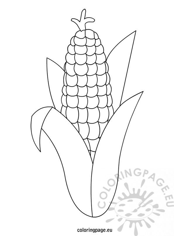 preschool thanksgiving coloring pages corn - photo#4