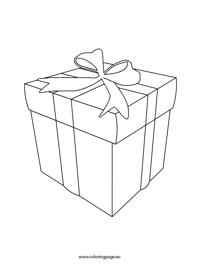 The Gallery For Gt Gift Box Coloring Page