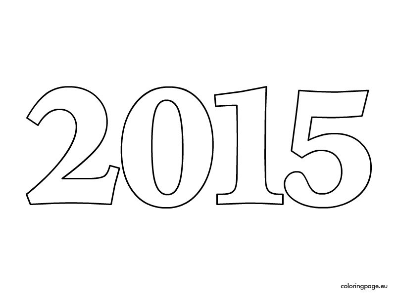Number 2015 Coloring Page