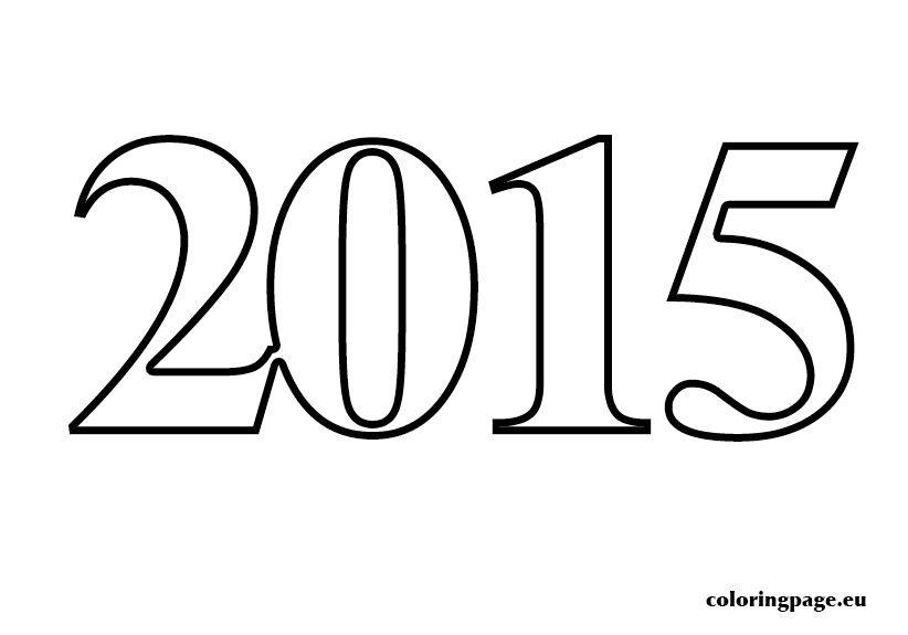 2015 Coloring Page Coloring Page