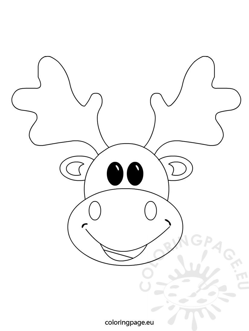 Christmas reindeer coloring page - Coloring Page