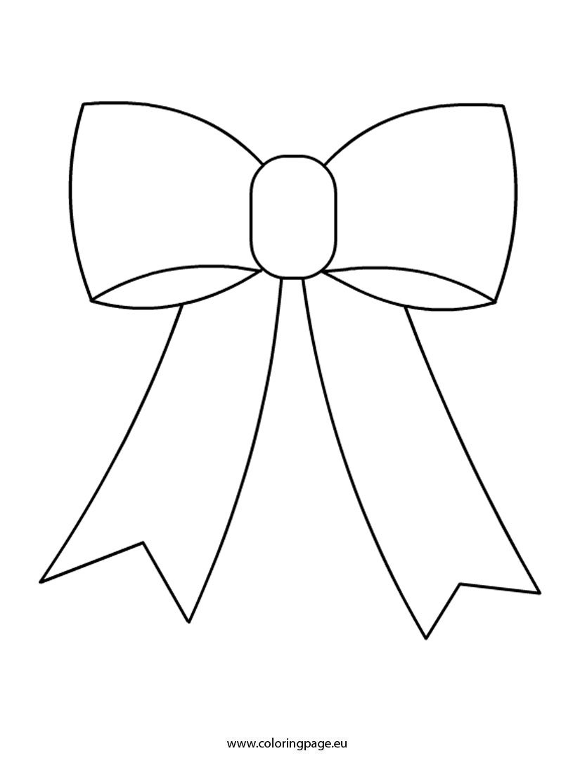 Cute Bow coloring page - Coloring Page