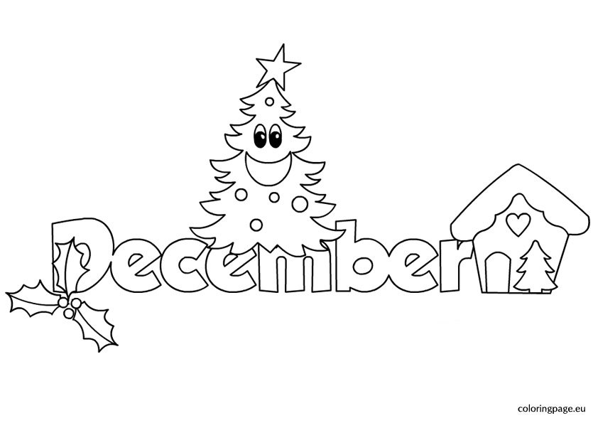 Month December – Coloring Page