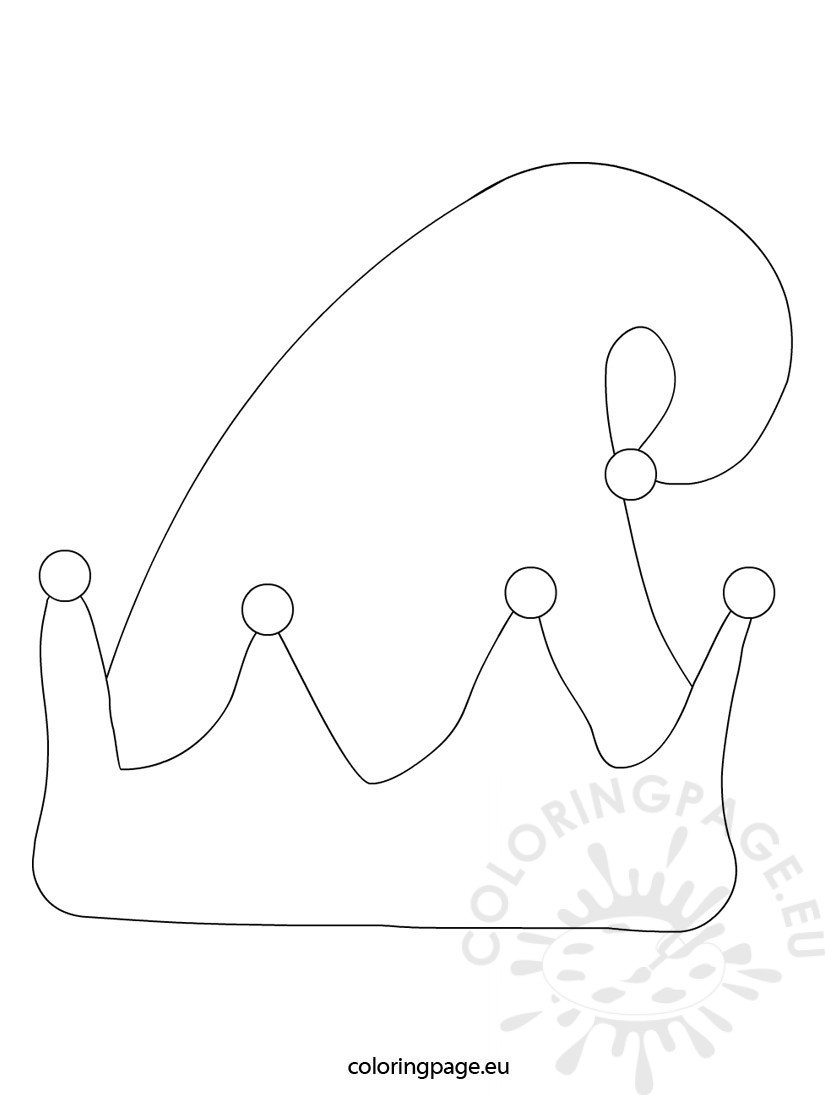 elf hat coloring page