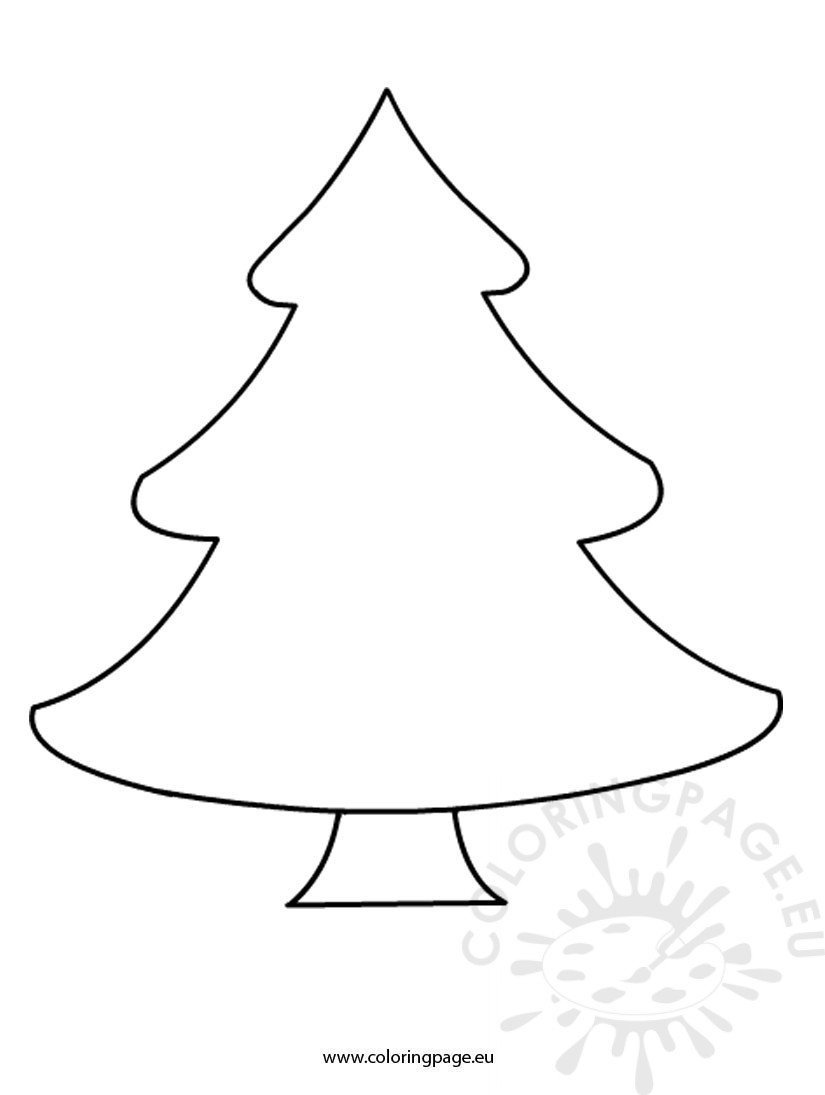 Free Christmas tree template - Coloring Page