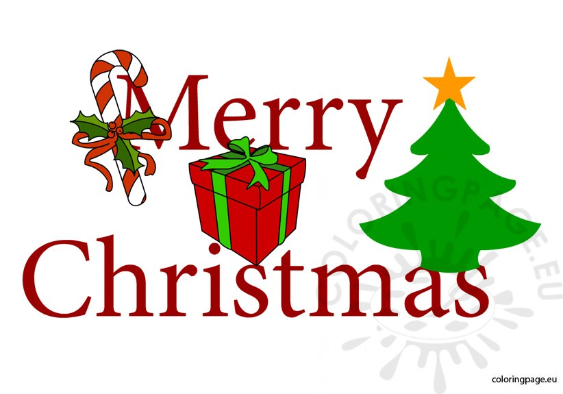 Merry Christmas free - Coloring Page