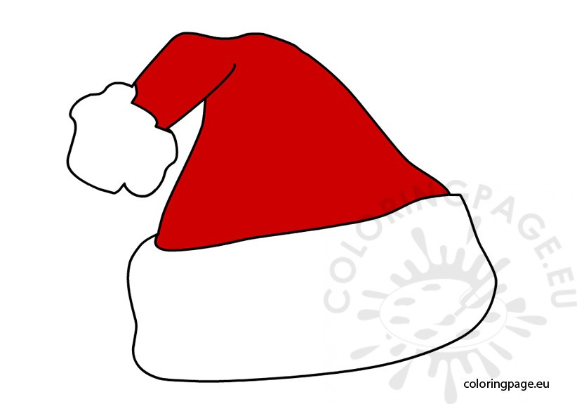 Santa Claus hat vector | Coloring Page