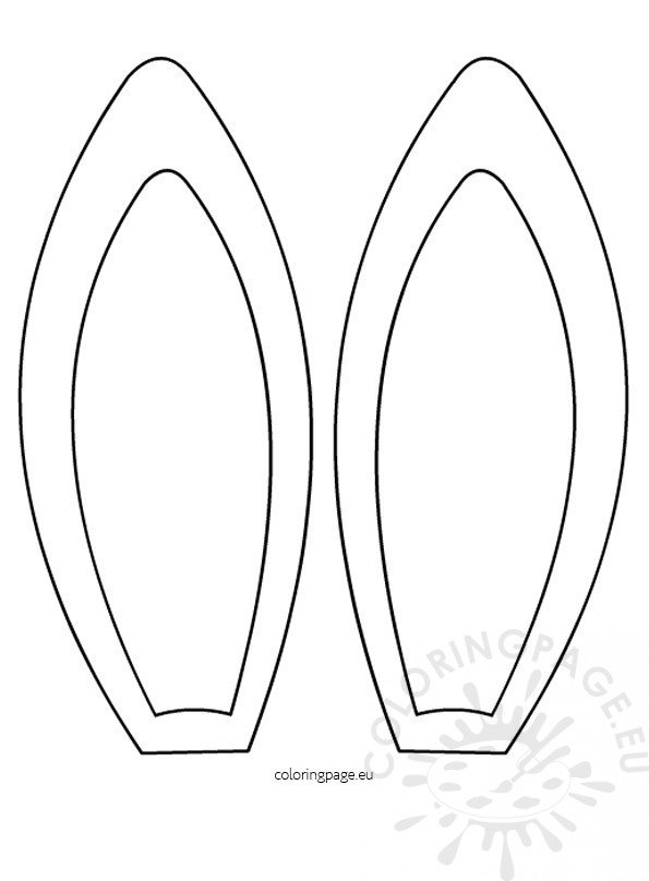 Easter Bunny Ears Template 2 Coloring Page