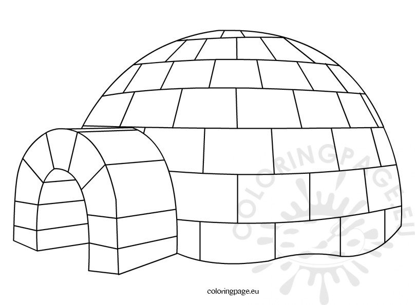 free printable igloo coloring pages - photo#6