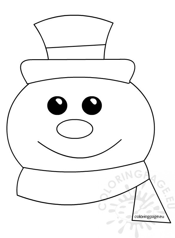 snowman coloring pages kids  u2013 coloring page